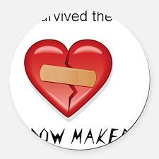 widow maker design Round Car Magnet
