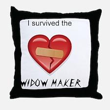 widow maker design Throw Pillow