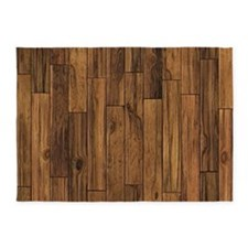 Hardwood Floor 5'x7'Area Rug