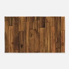 Hardwood Floor 3'x5' Area Rug
