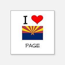 I Love Page Arizona Sticker
