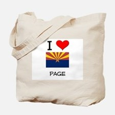 I Love Page Arizona Tote Bag