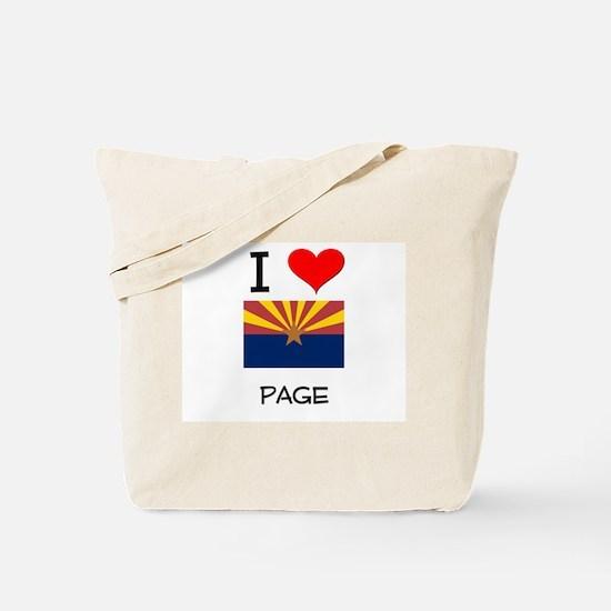 I Love Page Arizona Tote Bag