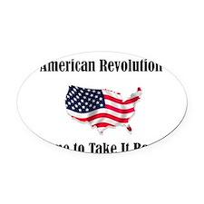 American Revolution Oval Car Magnet