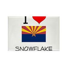 I Love Snowflake Arizona Magnets