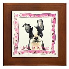 Boston Terrier Valentine Framed Tile