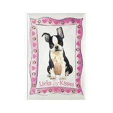 Boston Terrier Valentine Rectangle Magnet