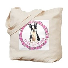 Boston Terrier Valentine Tote Bag