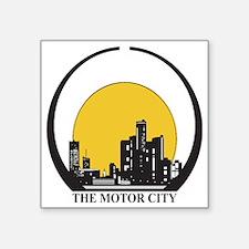 "Cute Detroit skyline Square Sticker 3"" x 3"""