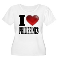 I Heart Philippines Plus Size T-Shirt