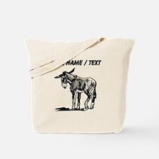 Custom Donkey Sketch Tote Bag