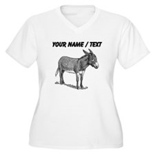 Custom Mule Sketch Plus Size T-Shirt