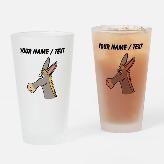Custom Cartoon Mule Drinking Glass