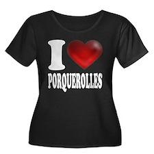 I Heart Porquerolles Plus Size T-Shirt