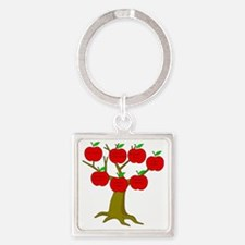 Family Tree Occupations Square Keychain