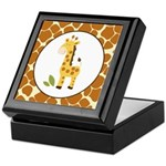 Yellow Giraffe with Giraffe Print Keepsake Box