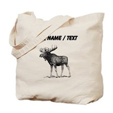 Custom Moose Sketch Tote Bag
