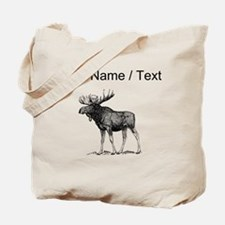 Custom Moose Sketch Tote Bag