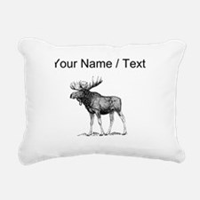 Custom Moose Sketch Rectangular Canvas Pillow