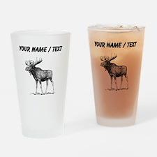 Custom Moose Sketch Drinking Glass