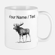 Custom Moose Sketch Mugs