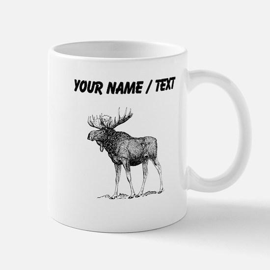 Custom Moose Sketch Mugs