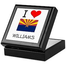 I Love Williams Arizona Keepsake Box