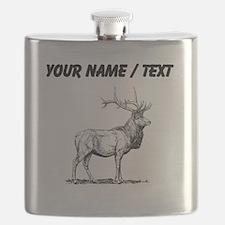 Custom Elk Sketch Flask