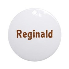 Reginald Fall Leaves Round Ornament