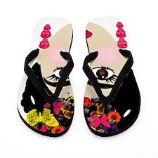 Frida Khalo Flip Flops