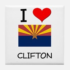 I Love Clifton Arizona Tile Coaster