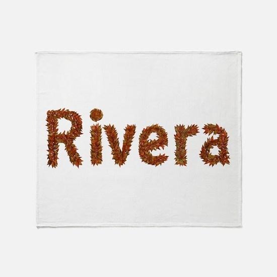 Rivera Fall Leaves Throw Blanket