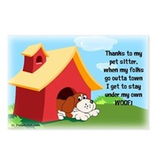 Under My Own Woof! Postcards (Package of 8)