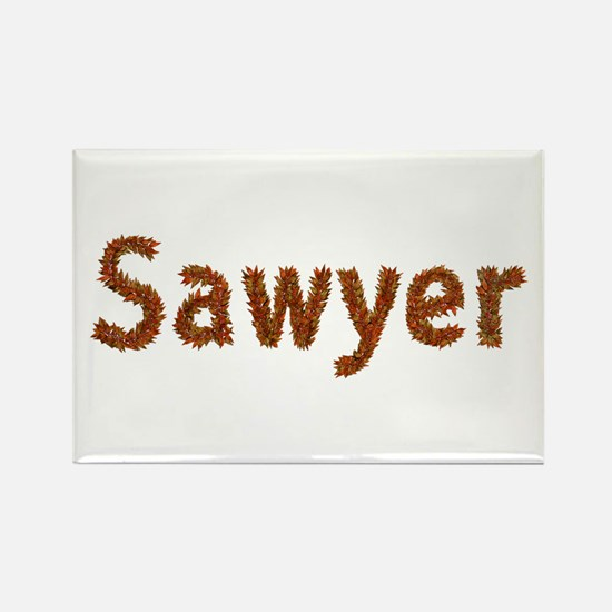 Sawyer Fall Leaves Rectangle Magnet