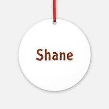 Shane Fall Leaves Round Ornament