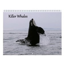 Cute Whales rock Wall Calendar