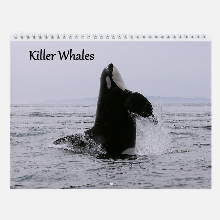 Cute I love orcas Wall Calendar