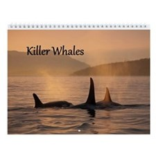 Cool Whales rock Wall Calendar