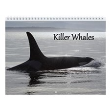 Unique Whales rock Wall Calendar