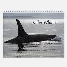 Funny Whales rock Wall Calendar