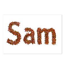 Sam Fall Leaves Postcards 8 Pack
