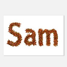 Sam Fall Leaves Postcards 8 Pack