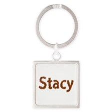 Stacy Fall Leaves Square Keychain