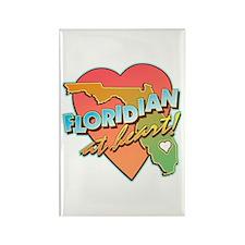 Floridian at Heart Rectangle Magnet