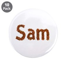 Sam Fall Leaves Big Button 10 Pack