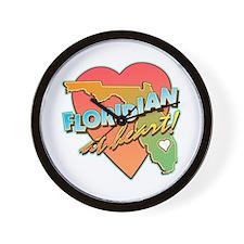 Floridian at Heart Wall Clock