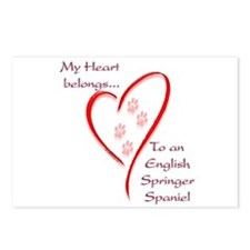 Springer Spaniel Heart Belongs Postcards (Package