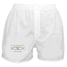 Funny Jesus Fish Boxer Shorts