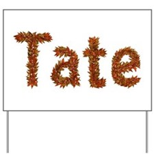 Tate Fall Leaves Yard Sign