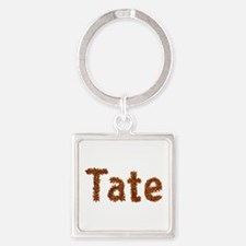 Tate Fall Leaves Square Keychain